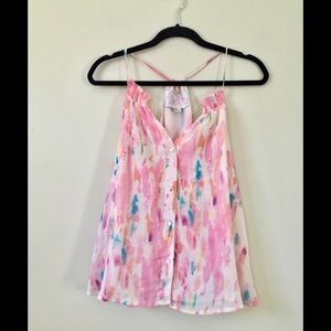 Rory Beca x Forever 21 Watercolor Racerback Tank
